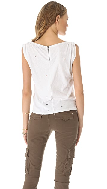 AIR by alice + olivia Gathered Shoulder Tee