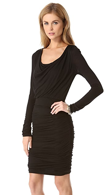 AIR by alice + olivia Cowl Neck Ruched Dress