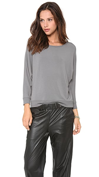 AIR by alice + olivia Boat Neck Dolman Top