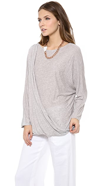 AIR by alice + olivia Draped Dolman Top