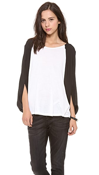 AIR by alice + olivia Combo Batwing Tee