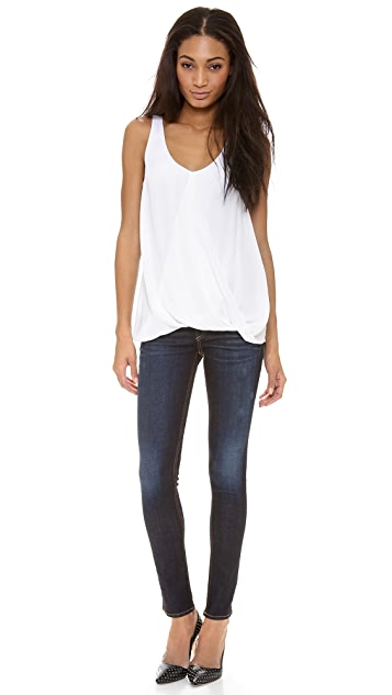 AIR by alice + olivia Overlap Drape Tank