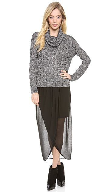 AIR by alice + olivia Tulip Drape Front Skirt