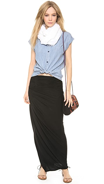 AIR by alice + olivia Kay Covertible Ruched Skirt