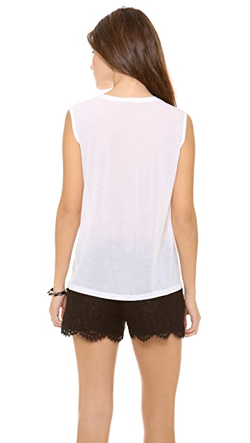 AIR by alice + olivia Perfect Sleeveless Tee