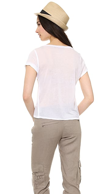 AIR by alice + olivia Rolled Sleeve Front Pocket Tee