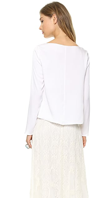 AIR by alice + olivia Long Sleeve Boxy Top