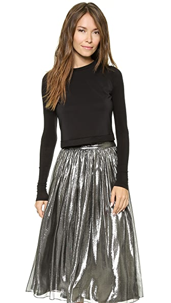 AIR by alice + olivia Scoop Neck Crop Top