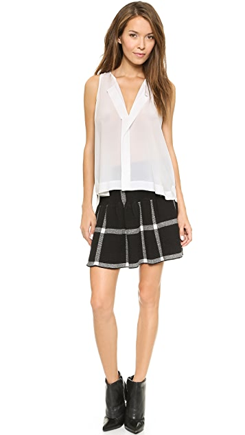 AIR by alice + olivia Sleeveless High Low Blouse