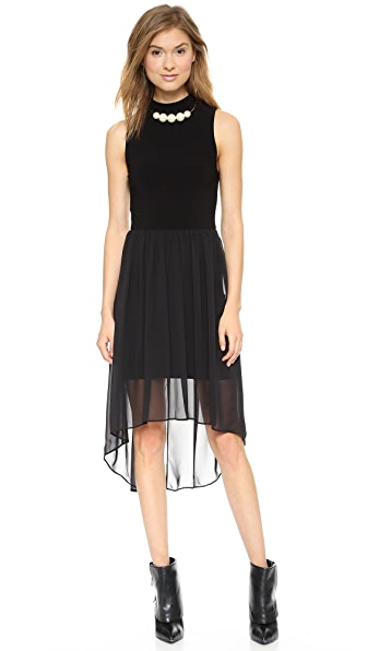 AIR by alice + olivia Mock Neck High / Low Dress