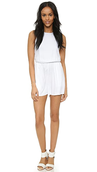AIR by alice + olivia Open Back Sleeveless Romper