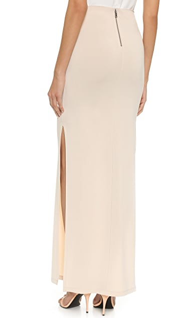 AIR by alice + olivia Double Slit Maxi Skirt