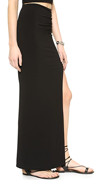 AIR by alice + olivia High Slit Maxi Skirt
