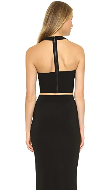 AIR by alice + olivia T Back Crop Top