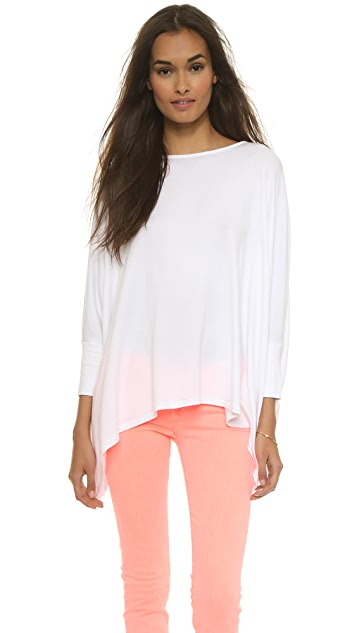 AIR by alice + olivia Boatneck Rectangle Tee