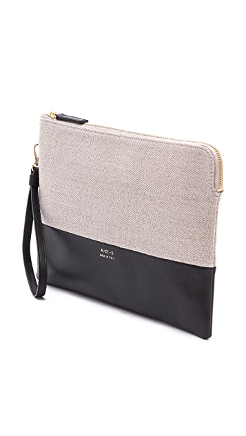 Alice.D Canvas Clutch