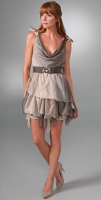 alice + olivia Layered Dress with Belt