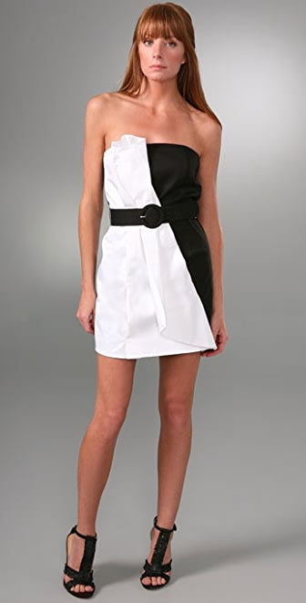 alice + olivia Colorblock Fan Dress