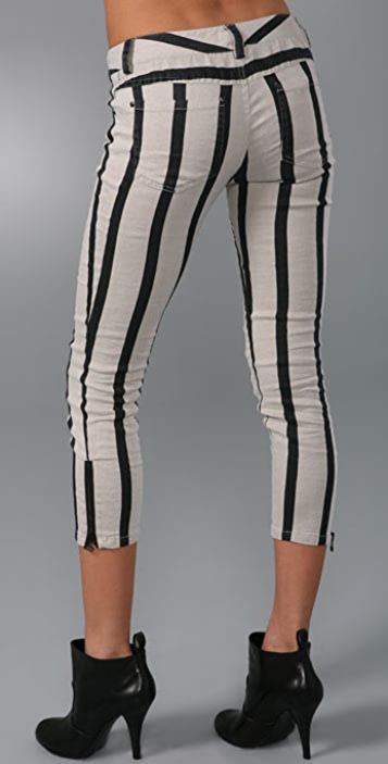 alice + olivia Five Pocket Skinny Pants with Zippers