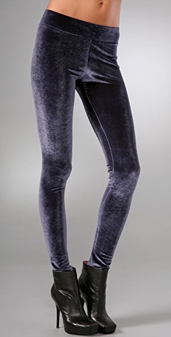 alice + olivia Velvet Leggings