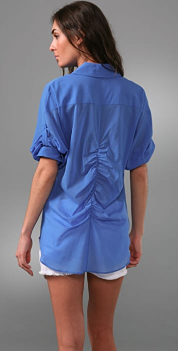 alice + olivia Parachute Button Down Shirt
