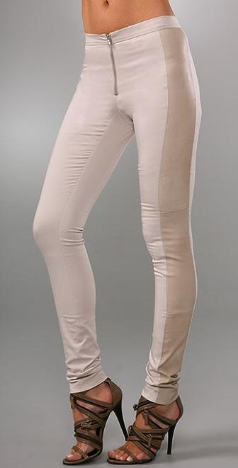 alice + olivia Leather Combo Pants