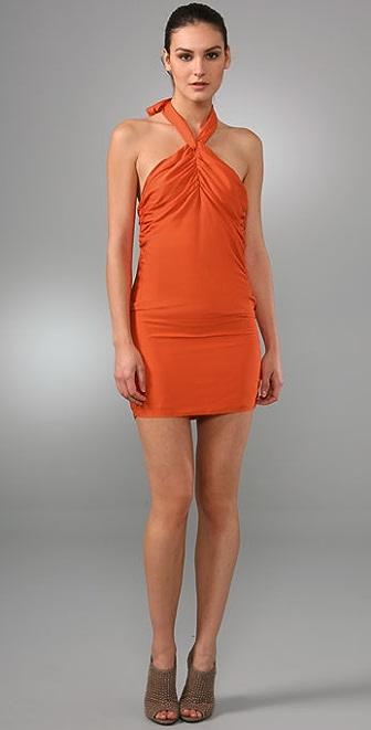 alice + olivia Rebecca Tie Dress