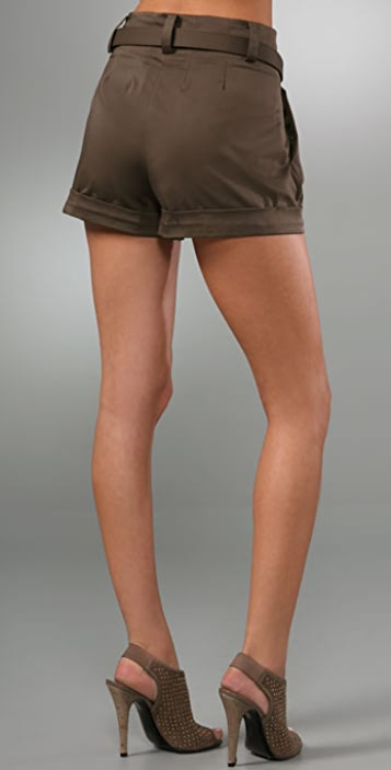 alice + olivia Pleated High Waist Shorts