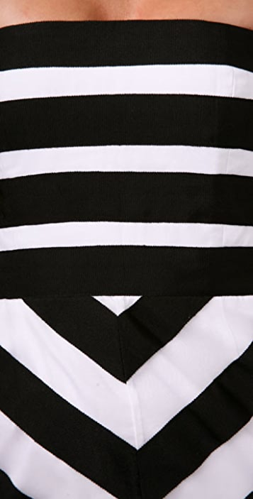 alice + olivia Robin Ribbon Stripe Dress