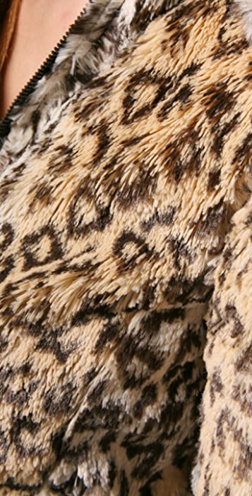 alice + olivia Chrissy Faux Fur Jacket