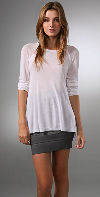 alice + olivia Inside Out Raglan Tee