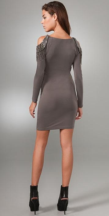 alice + olivia Hollis Embellished Shoulder Dress