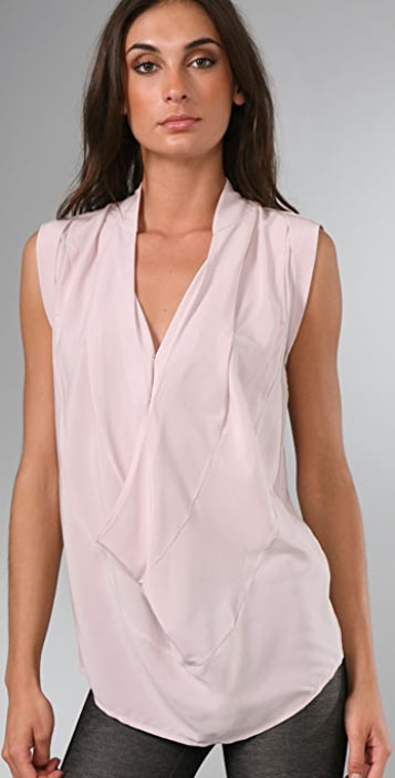 alice + olivia Amy Pleated Shoulder Top