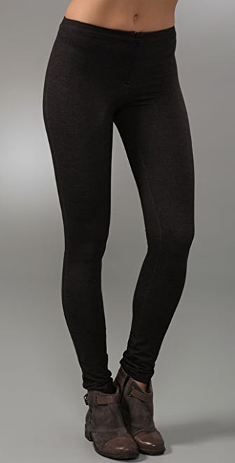alice + olivia Denim Style Leggings with Front Zip