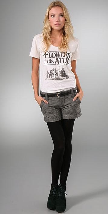 alice + olivia Houndstooth Cady Cuff Shorts