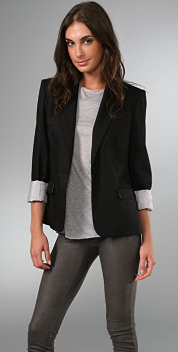 alice + olivia Structured Shoulder Blazer