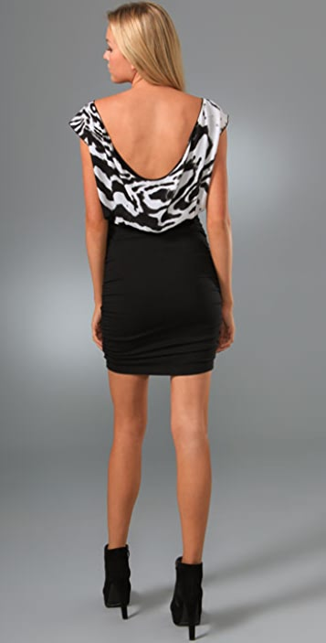 alice + olivia Slouchy Blouson Dress