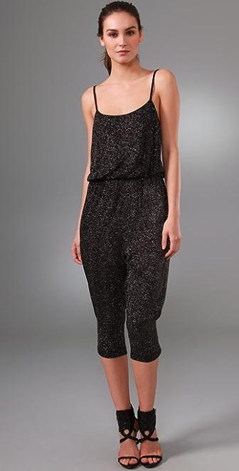 alice + olivia Zahara Glitter Jumpsuit