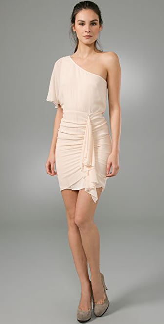 alice + olivia Marcia One Shoulder Dress