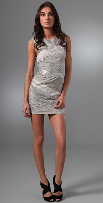 alice + olivia Vanda Bandage Shift Dress
