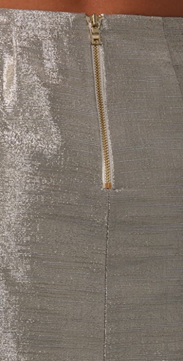 alice + olivia Mayra Metallic Skirt
