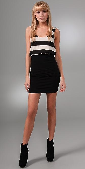 alice + olivia Nicky Blouson Tank Dress
