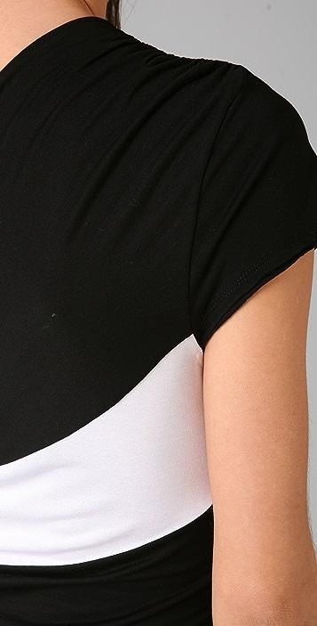 alice + olivia Striped Skye One Shoulder Dress