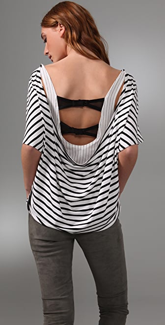 alice + olivia Britton Striped Tee