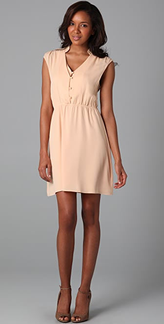 alice + olivia Blouson Button Military Dress