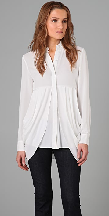 alice + olivia Button Empire Blouse