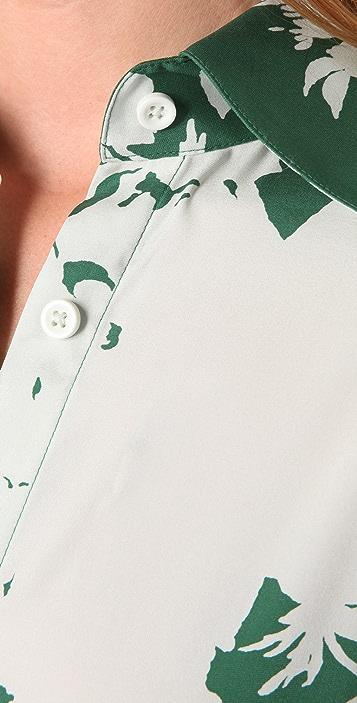 alice + olivia Rolled Cuff Shirtdress
