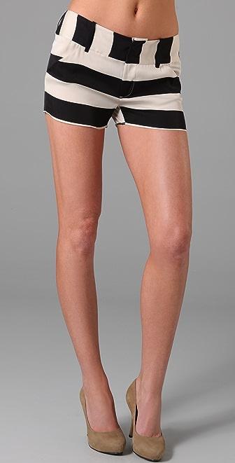 alice + olivia Striped Shorts