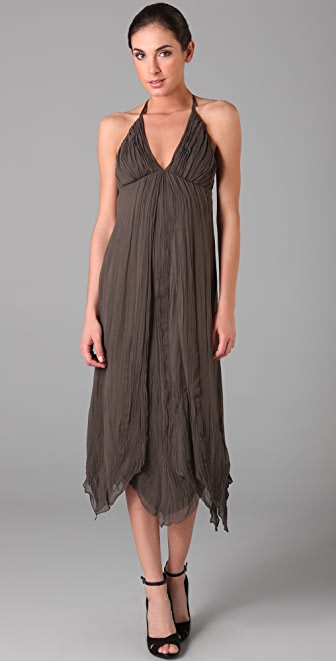 alice + olivia Danica Gathered Halter Dress