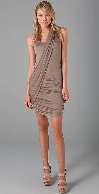 alice + olivia T Back Drapey Dress